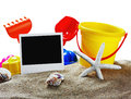 Toys for sandbox isolated on white background Stock Photography