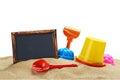 Toys for sandbox isolated on white background Stock Images