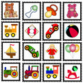 Toys stamps Royalty Free Stock Photo