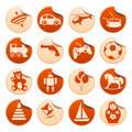 Toys stickers Royalty Free Stock Photo