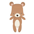 Toys teddy bear cute isolated on white graphic eps Royalty Free Stock Image