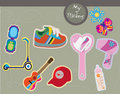 Toys and teen accessories Royalty Free Stock Photo