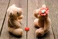 Toys two bears Royalty Free Stock Photo