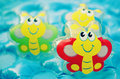 Toys in water inflatable colorful the swimming pool Stock Image