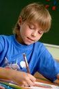 Tração do menino do Preschooler Fotos de Stock Royalty Free