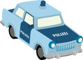 Trabant vector illustration of east german police car Stock Photography