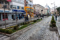 Trabzon turkey february unidentified people walk on a pedestrian zone in on february is a city in north Royalty Free Stock Photos