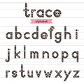 Trace alphabet lowercase letters. Royalty Free Stock Photo