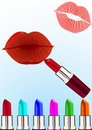 Trace of lipstick Royalty Free Stock Images