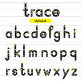 Trace rounded alphabet lowercase letters. Royalty Free Stock Photo