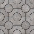 Tracery gray paving slabs seamless tileable texture Royalty Free Stock Photo