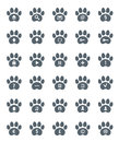 Traces of cat icons set vector illustration Royalty Free Stock Photography
