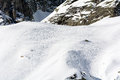 Traces of ski mountaineering on the chain mont blanc Royalty Free Stock Photography
