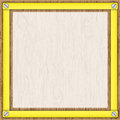 Tracing paper in yellow frame. Stock Photography