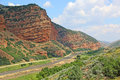 The track in echo canyon landscape utah Royalty Free Stock Images