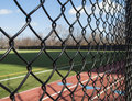 Track and Field Fence Royalty Free Stock Photo