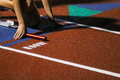 Track and Field Starting Blocks Royalty Free Stock Photo