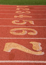 Track and Field Startline Royalty Free Stock Photo