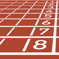 Track lane numbers illustration Royalty Free Stock Images