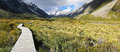 Track at Mount Cook National Park - New Zealand Royalty Free Stock Photo