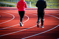 Track running - endurance Royalty Free Stock Photo