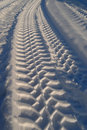 Track on snow Royalty Free Stock Photo