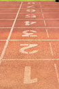 Track start in the stadium at mae fah luang university chiangrai thailand Royalty Free Stock Photos