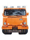 Tracked snowmobile orange personnel carrier isolated on white background Stock Images