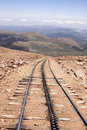 Tracks going down Pike's Peak in colorado Royalty Free Stock Photo