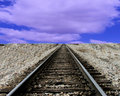 Tracks Leading to Anywhere Stock Image