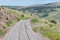 Tracks narrow gauge railroad in southern colorado Royalty Free Stock Image