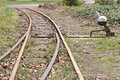 Tracks and track switch railway a Royalty Free Stock Image