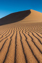 Tracks of Wind on a sand dune Royalty Free Stock Photo