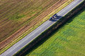 Tracktor in the fields Stock Photography