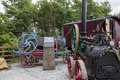 Traction wadebridge cornwall uk june old fashioned steam powered engine Royalty Free Stock Images