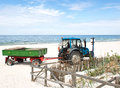 Tractor on the beach. Stock Image