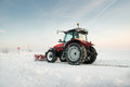 Tractor cleaning snow Royalty Free Stock Photos