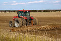 Tractor cultivated field Royalty Free Stock Photography