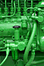 Tractor engine Royalty Free Stock Images