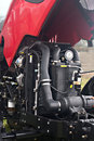 Tractor engine new red inspection Stock Image