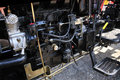 Tractor engine open in close up Royalty Free Stock Photos