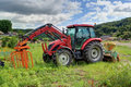 Tractor a at the farm south korea Royalty Free Stock Photo