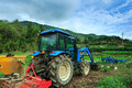 Tractor a at the farm south korea Royalty Free Stock Photography