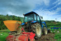 Tractor a at the farm south korea Stock Images