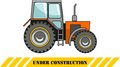 Tractor. Heavy construction machines. Vector