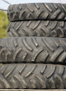Tractor or Heavy Construction Tires Stock Photography