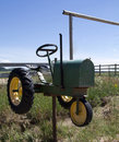 Tractor Mailbox Royalty Free Stock Photo