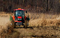 Tractor ploughing field Royalty Free Stock Images