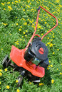 Tractor plow from front side on the field Royalty Free Stock Photo