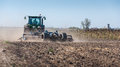 Tractor plowing Royalty Free Stock Photo
